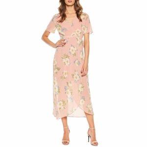 Bardot Sunset Floral Print Wrap Dress Size 10